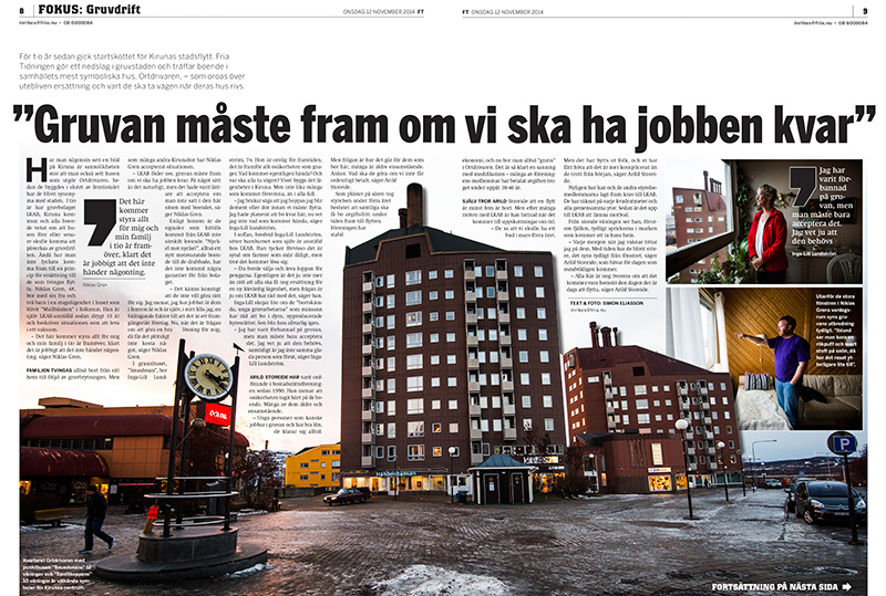 Kirunareportage, Fria Tidningen 1