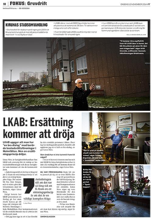 Kirunareportage, Fria Tidningen 2