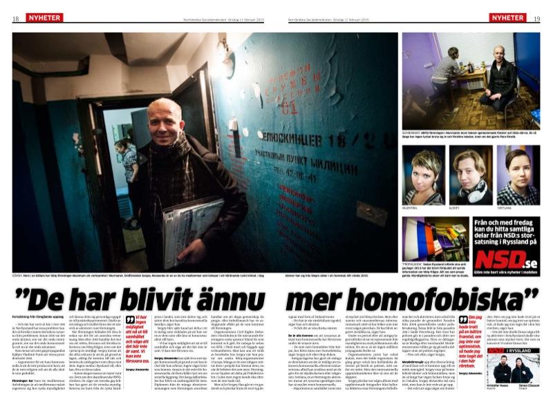 HBTQ-aktivister i Murmansk.