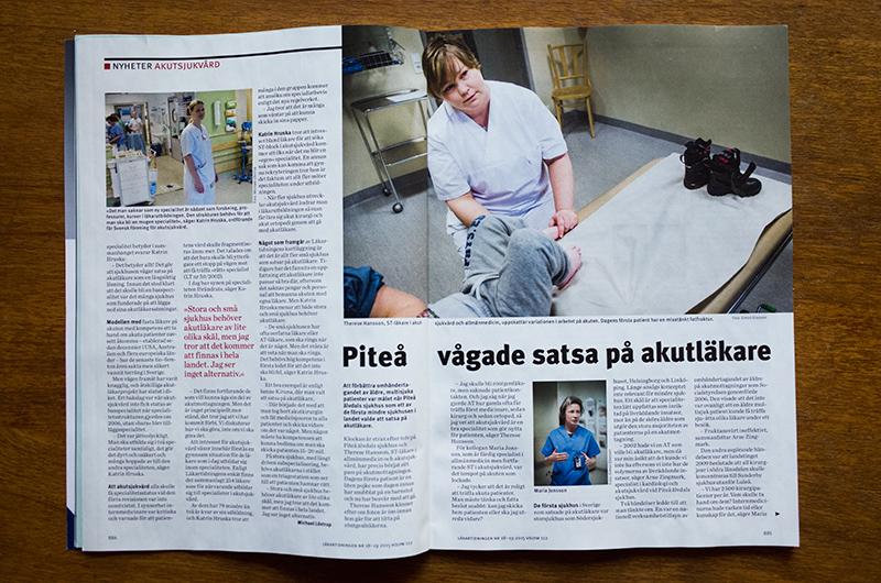 Läkartidningen, akuten Piteå, uppslag 1