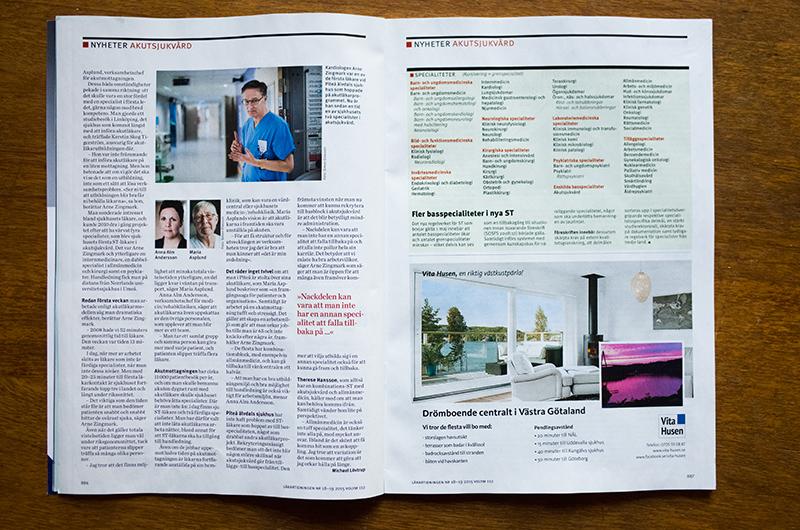 Läkartidningen, akuten Piteå, uppslag 2
