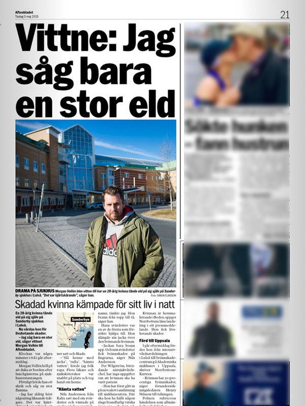 Sunderby sjukhus, Aftonbladet