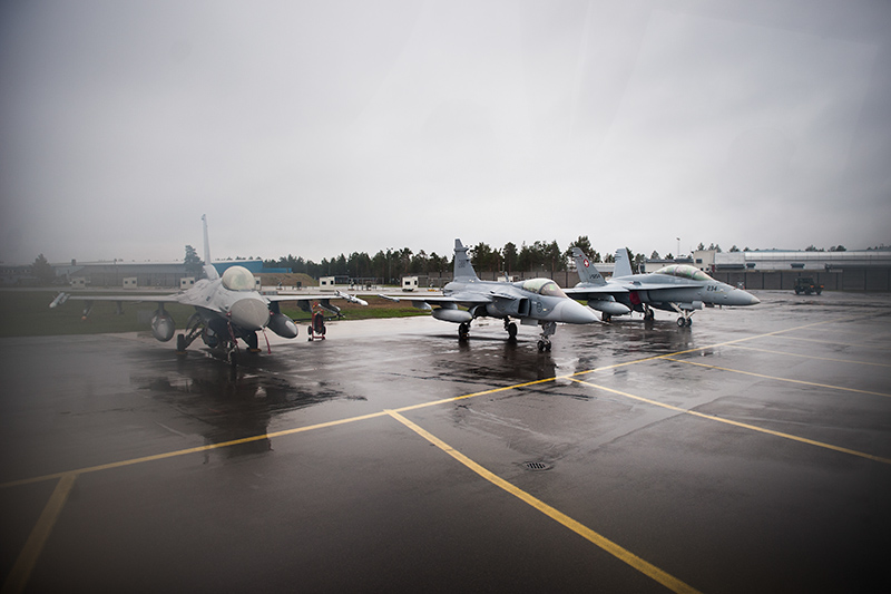 JAS 39 Gripen på Arctic Challenge Exercise 2015 vid F21 i Luleå.