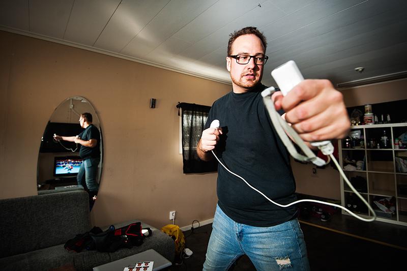 Samuel Andersson gick ner i vikt med hjälp av Wii fit.