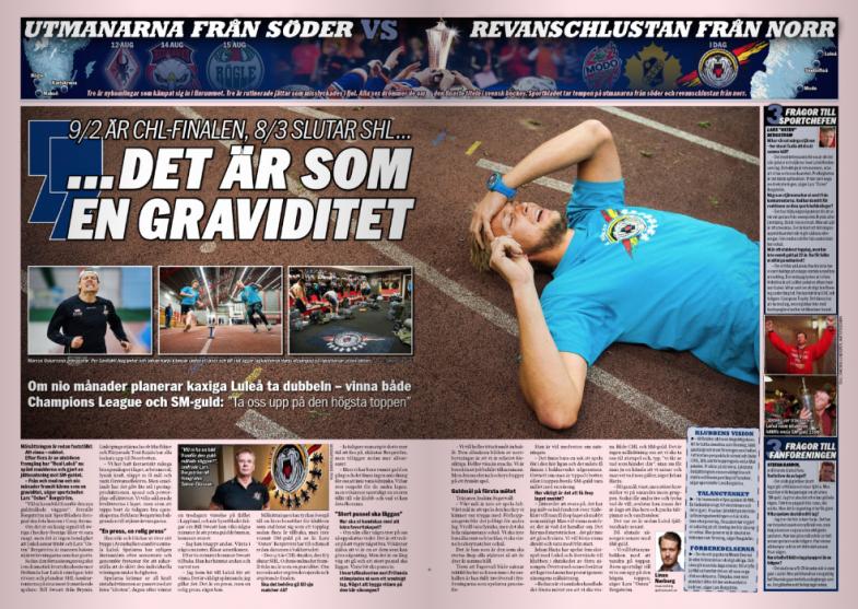 Johan Harju, Luleå HF, Sportbladet