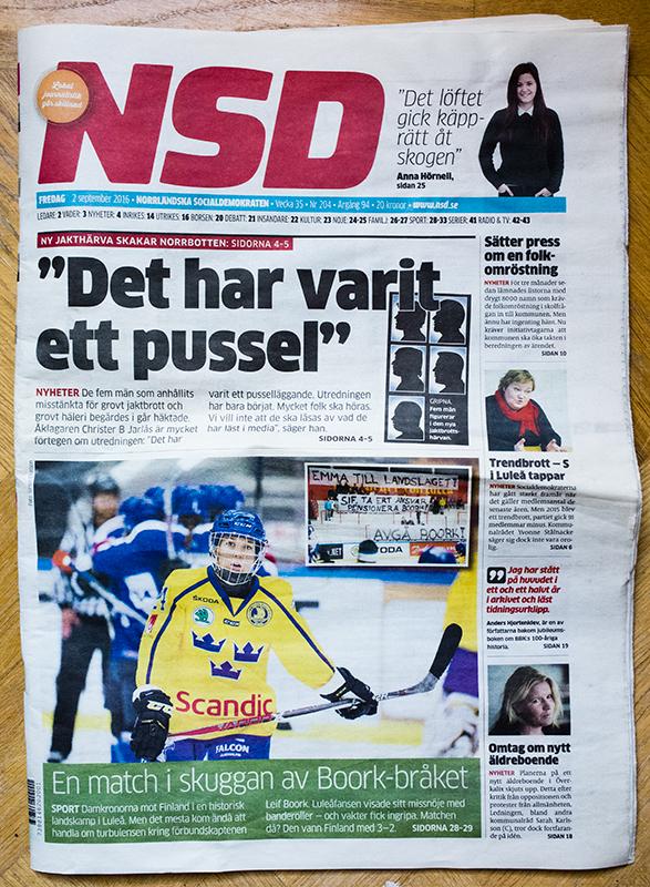 Sverige-Finland, träningsmatch i COOP arena.