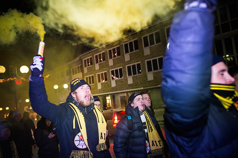 Börje Salming hyllades i Kiruna.