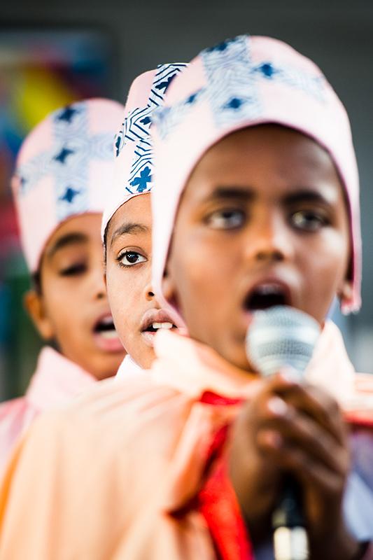 Eritreansk gudstjänst, för Kyrknyckeln.