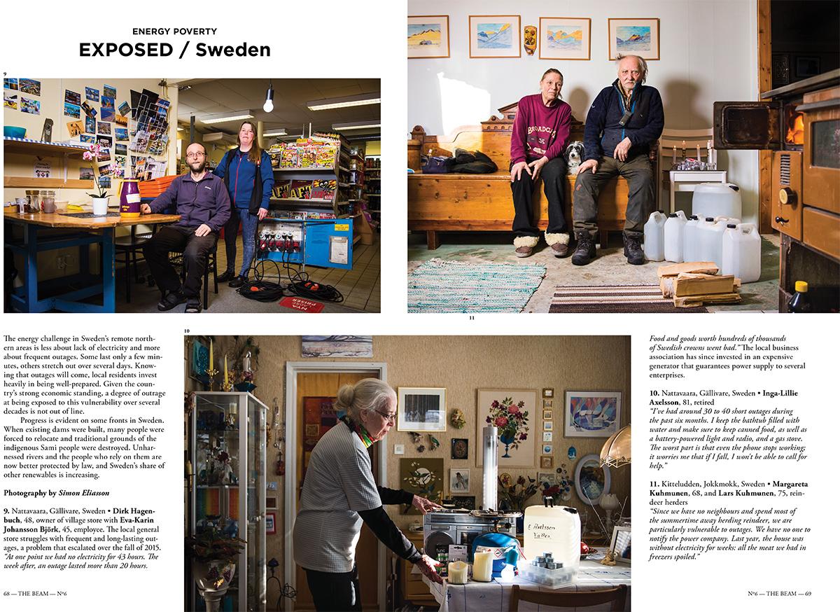 Projektet om strömlöshet i Norrbottens inland som jag jobbade med för EU Energy Poverty Observatory har nu blivit publicerat i magasinet The Beam.